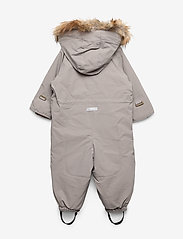 Mini A Ture - Wisti Faux Fur Snowsuit, M - vintertøj - cloudburst grey - 1