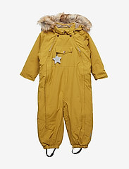Mini A Ture - Wisti Faux Fur Snowsuit, M - vintertøj - dried tobacco - 0