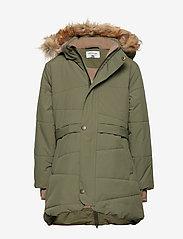 Mini A Ture - Witta Faux Fur Jacket, K - parkas - beetle - 0