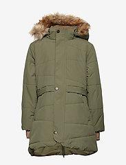 Mini A Ture - Witta Faux Fur Jacket, K - parkas - beetle - 1