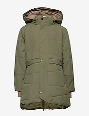 Mini A Ture - Witta Faux Fur Jacket, K - parkas - beetle - 2