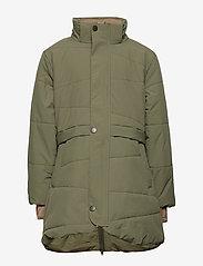 Mini A Ture - Witta Faux Fur Jacket, K - parkas - beetle - 3