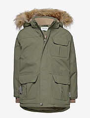 Mini A Ture - Walder Faux Fur Jacket, K - parkas - beetle - 0