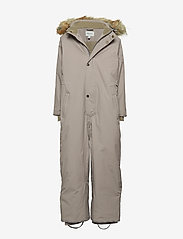 Mini A Ture - Wanni Faux Fur Snowsuit, K - vintertøj - cloudburst grey - 0