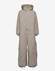 Mini A Ture - Wanni Faux Fur Snowsuit, K - vintertøj - cloudburst grey - 2