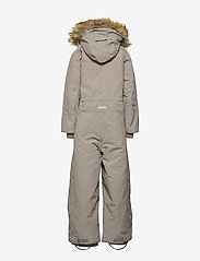 Mini A Ture - Wanni Faux Fur Snowsuit, K - vintertøj - cloudburst grey - 4