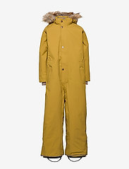 Mini A Ture - Wanni Faux Fur Snowsuit, K - vinterdress - dried tobacco - 1