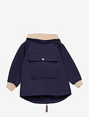 Mini A Ture - Baby Vito Fleece Anorak, M - shell jackets - maritime blue - 0