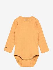 Mini A Ture - Yomi Body GOTS, B - long-sleeved - honey yellow - 0