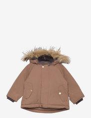 Wally Fake Fur Jacket, M - ACORN BROWN