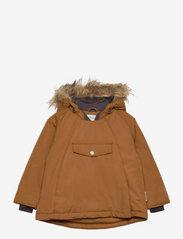 Wang Fake Fur Jacket, M - RUBBER BROWN