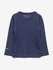Mini A Ture - Erion T-shirt, MK - lange mouwen - mood indigo - 0