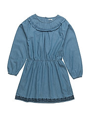 Fransiska, K Dress LS - GRISAILLE BLUE
