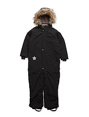 Wanni Faux Fur, K Snowsuit - BLACK