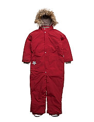 Wanni Faux Fur, K Snowsuit - SCOOTER RED