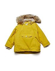 Wang Faux Fur Jacket, M - BAMBOO YELLOW