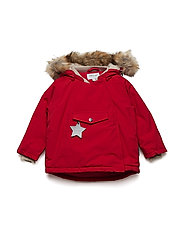 Wang Faux Fur Jacket, M - CHINESE RED