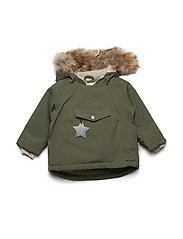 Wang Faux Fur Jacket, M - CLOVER GREEN