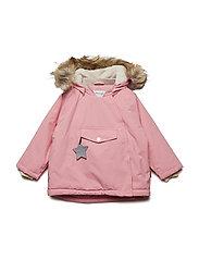 Wang Faux Fur Jacket, M - GERANIUM PINK