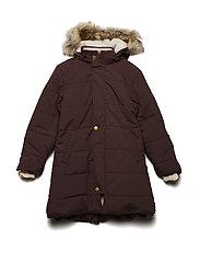 Wega Faux Fur Jacket, K - DEEP MAHOGANY