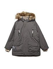 Wille Faux Fur Jacket, K - STEEL GREY
