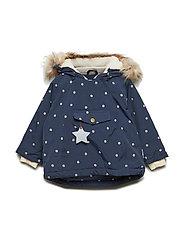 Wang Faux Fur Jacket, M - SKY CAPTAIN BLUE