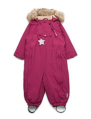 Wisti Faux Fur Snowsuit, M - CHERRY