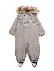 Wisti Faux Fur Snowsuit, M - CLOUDBURST GREY