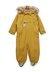 Wisti Faux Fur Snowsuit, M - DRIED TOBACCO