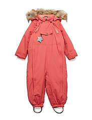 Wisti Faux Fur Snowsuit, M - FADED ROSE