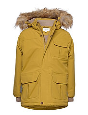 Walder Faux Fur Jacket, K - DRIED TOBACCO
