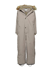 Wanni Faux Fur Snowsuit, K - CLOUDBURST GREY