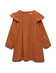 Ammalie Dress, M - LEATHER BROWN