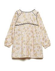 Atalie Dress, B - SILVER PEONY
