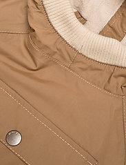 Mini A Ture - Baby Vito Fleece Anorak, M - shell jackets - wood - 2