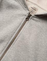 Mini A Ture - Alfi Zip Hoodie, K - hoodies - light grey melange - 2
