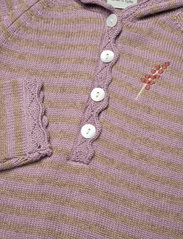 Mini A Ture - Angel Romper, B - long-sleeved - elderberry - 2