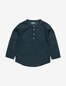 Alton, BM Shirt LS - shirts - sky captain blue