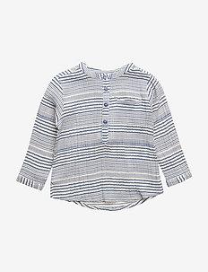 Lai Shirt, M - langærmede t-shirts - true navy