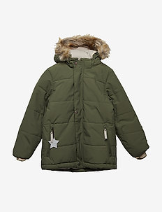Wessel Faux Fur Jacket, K - CLOVER GREEN