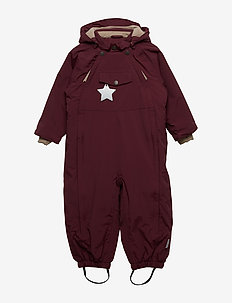 Wisti Snowsuit, M - vinterdress - winetasting plum