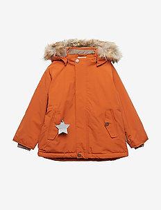 Wally Faux Fur Jacket, M - dunjakker & forede jakker - autumnal brown