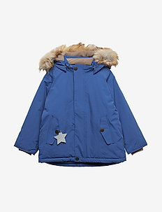 Wally Faux Fur Jacket, M - gewatteerde jassen - blue quartz