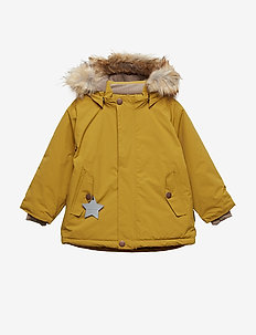 Wally Faux Fur Jacket, M - DRIED TOBACCO