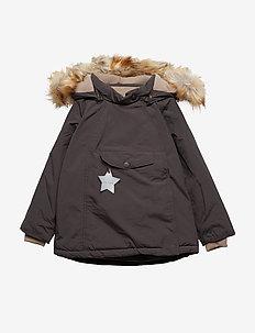Wang Faux Fur Jacket, M - puffer & padded - licorise