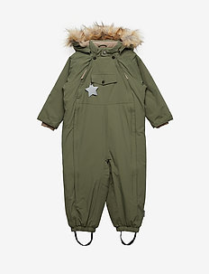 Wisti Faux Fur Snowsuit, M - vinterdress - beetle
