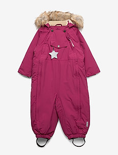 Wisti Faux Fur Snowsuit, M - vinterdress - cherry