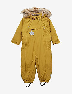 Wisti Faux Fur Snowsuit, M - vinterdress - dried tobacco