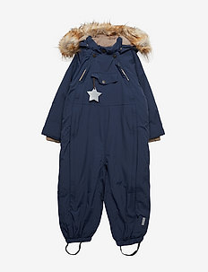 Wisti Faux Fur Snowsuit, M - vinterdress - peacoat blue