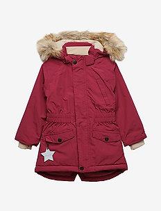 Vibse Fuex Fur Jacket, K - CHERRY
